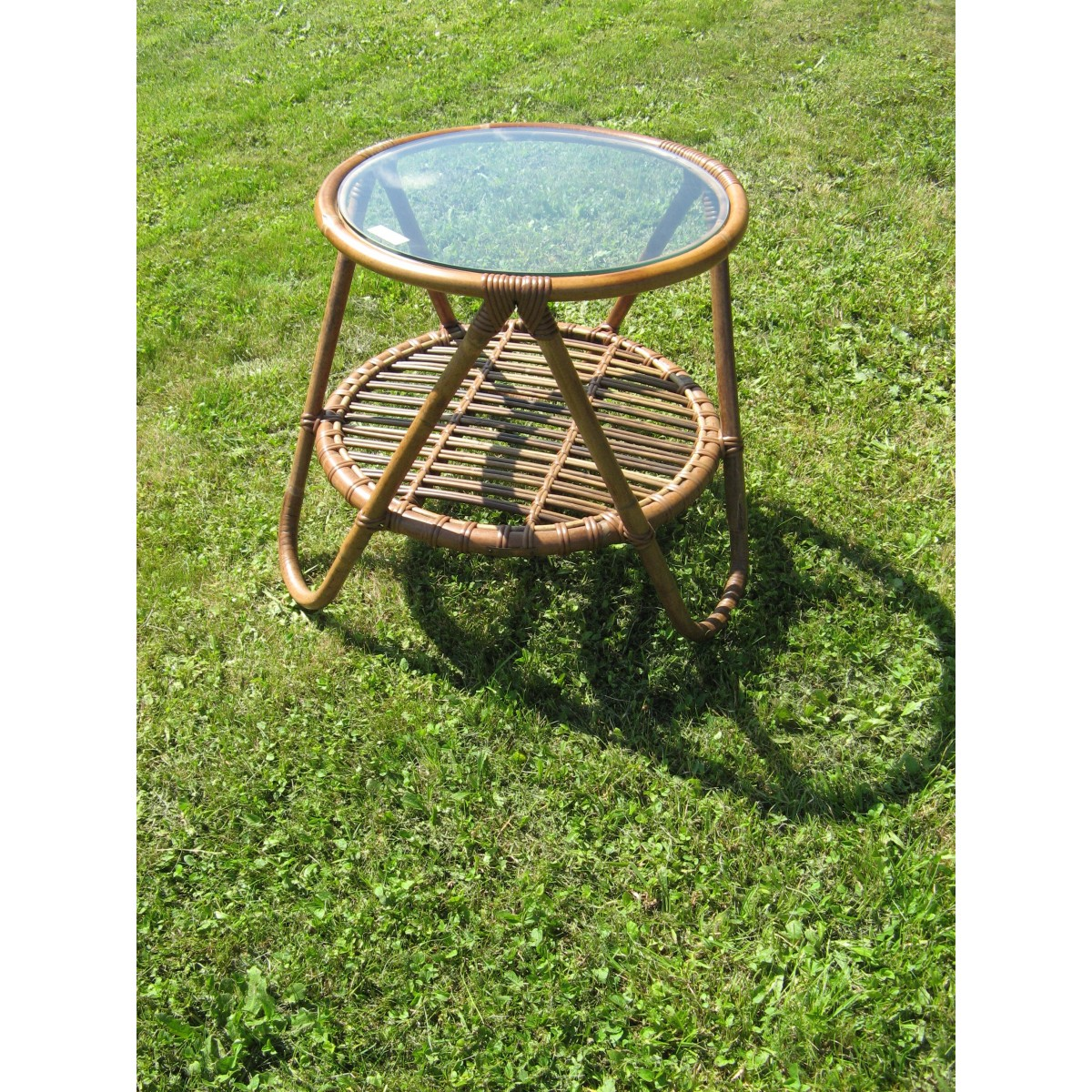 table basse mozart en rotin naturel sp cial ext rieur brun. Black Bedroom Furniture Sets. Home Design Ideas