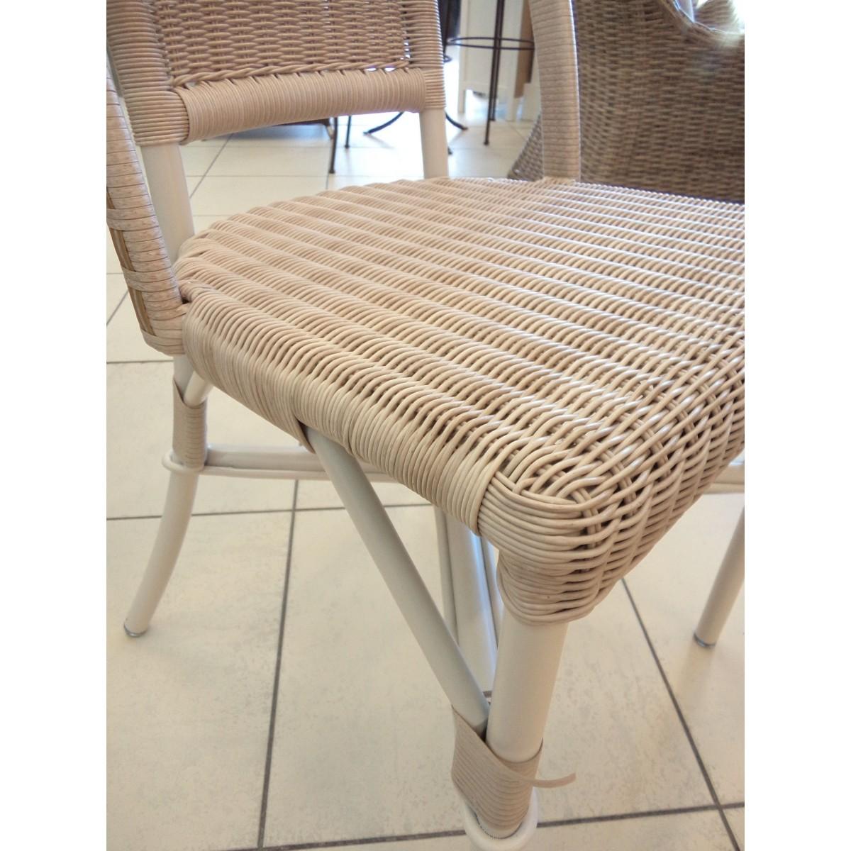 Chaise en r sine et aluminium sp cial ext rieur coloris dune for Resine exterieur