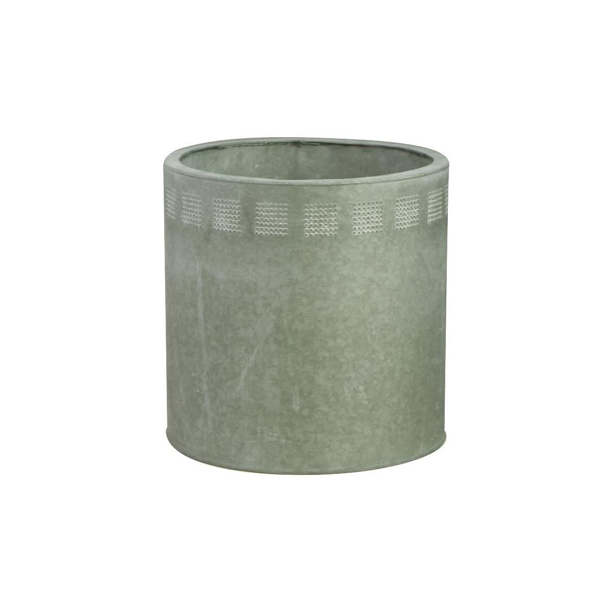 Cache pot en zinc blanchi - Cache pot en zinc ...