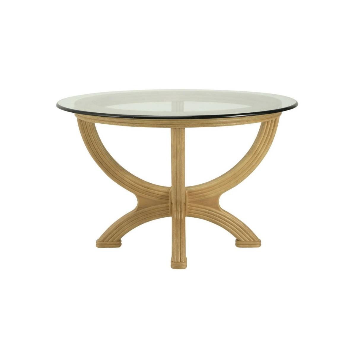Table en rotin ronde for Table ronde en rotin