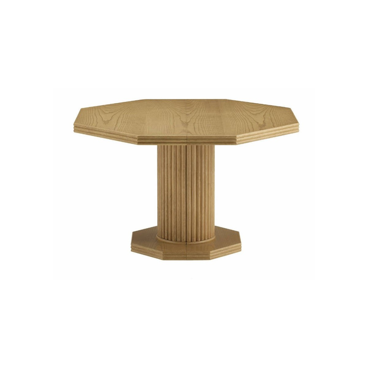 Table de salon en rotin octogonale pied central - Table de jardin octogonale ...