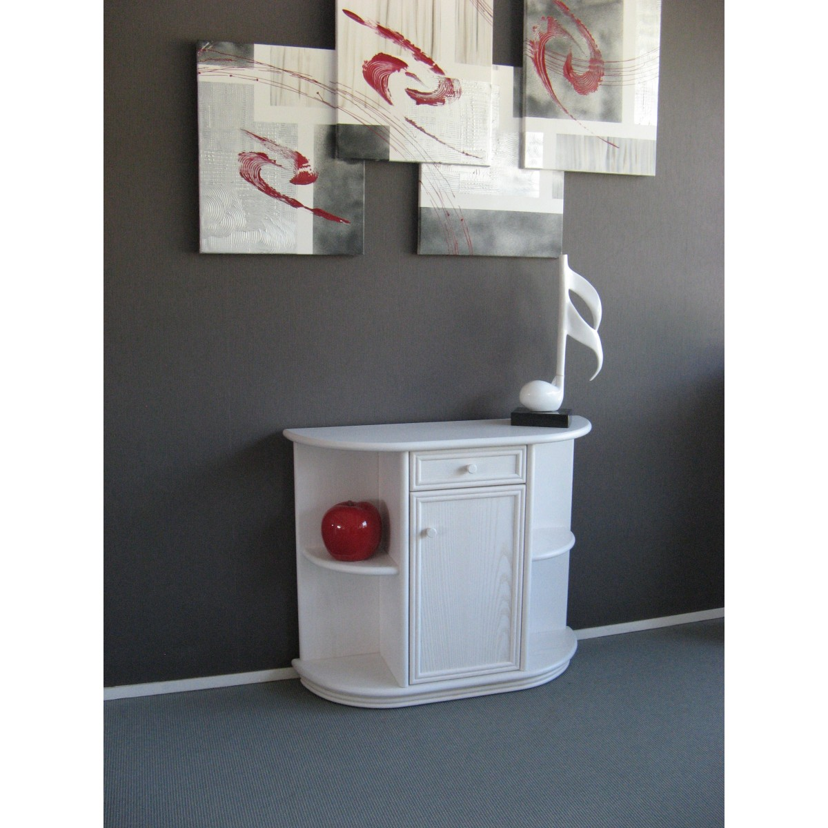 console en demi lune. Black Bedroom Furniture Sets. Home Design Ideas