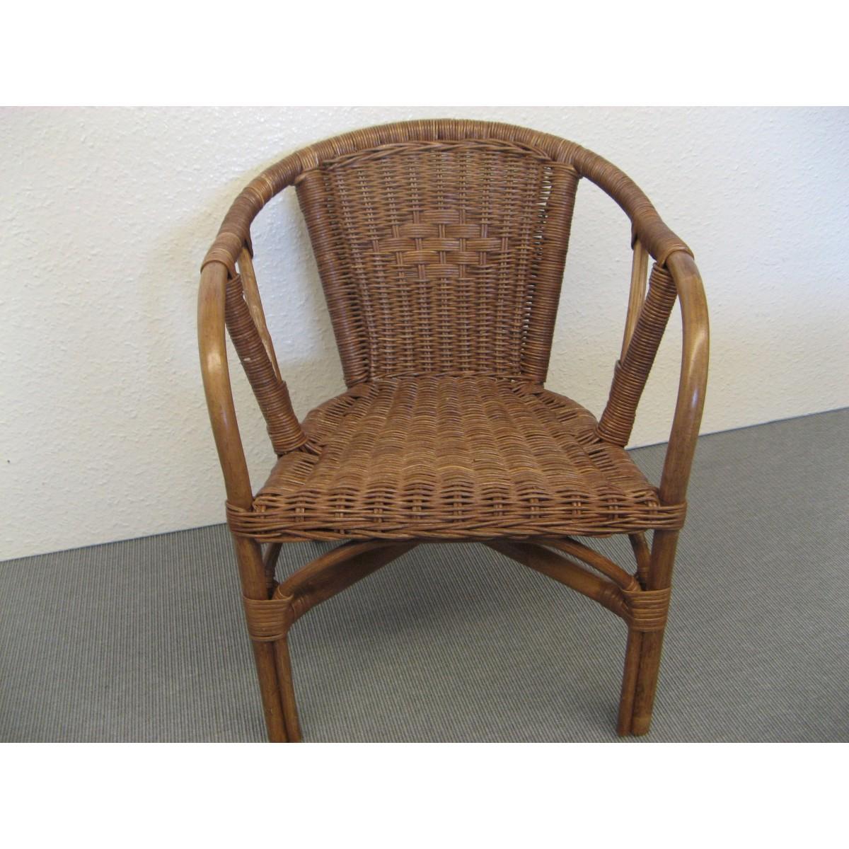 fauteuil d 39 enfant edgar en rotin coloris brun. Black Bedroom Furniture Sets. Home Design Ideas