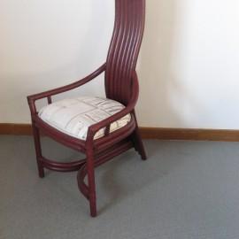 Chaise Design Rotin Prune