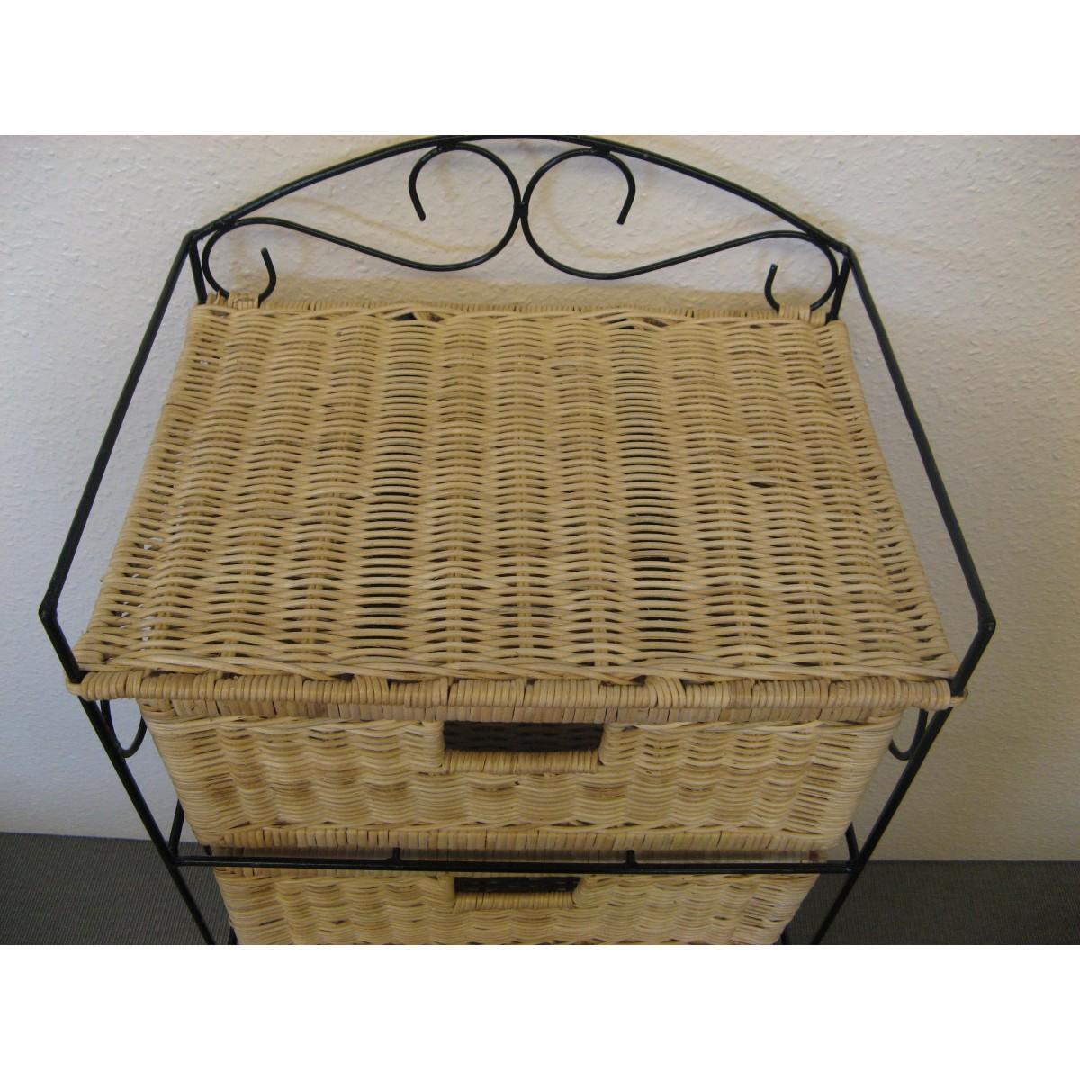 Petit meuble de rangement 4 tiroirs en rotin for Petits rangements