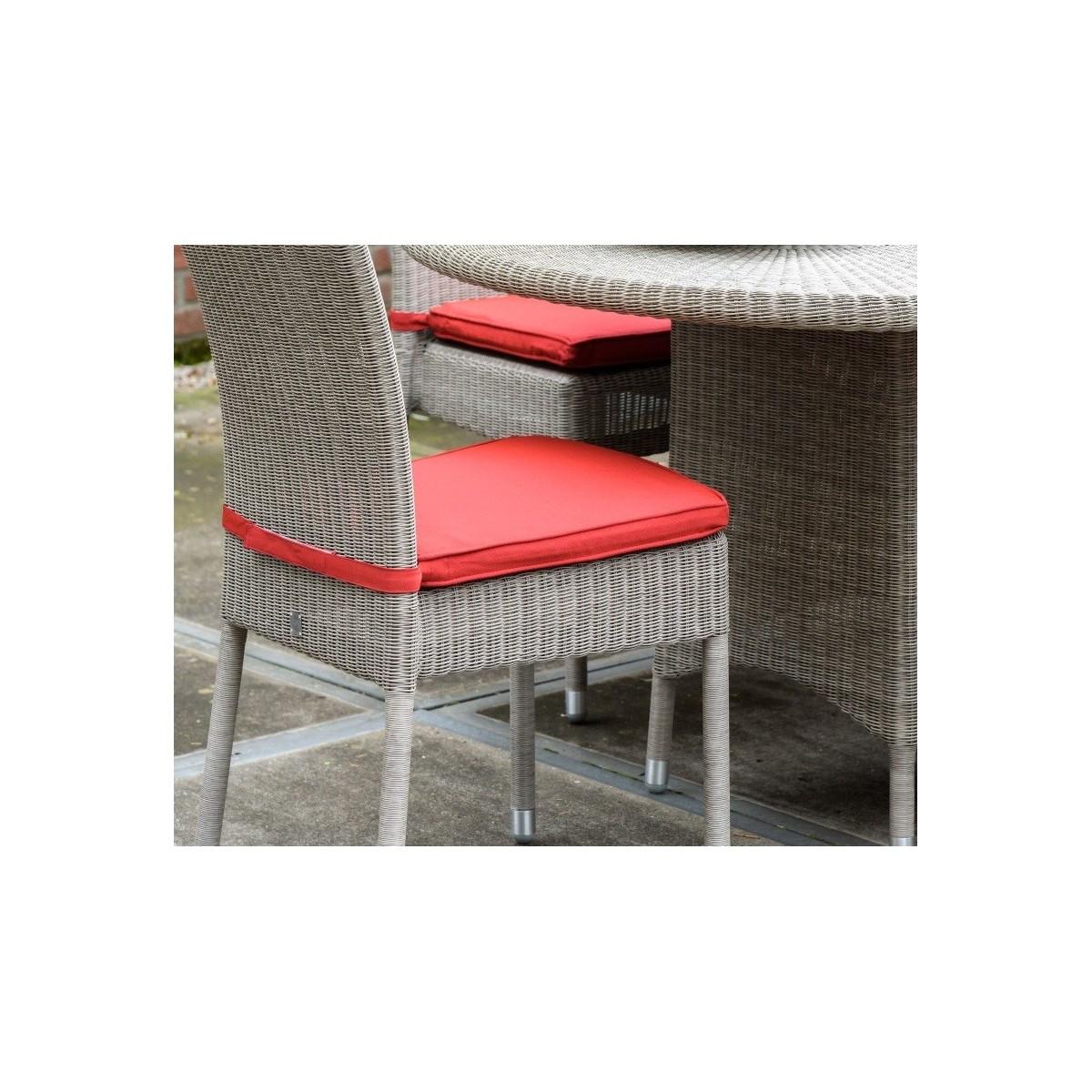 Coussin de chaise isabelle en r sine coloris rouge - Coussins de chaises dehoussables ...