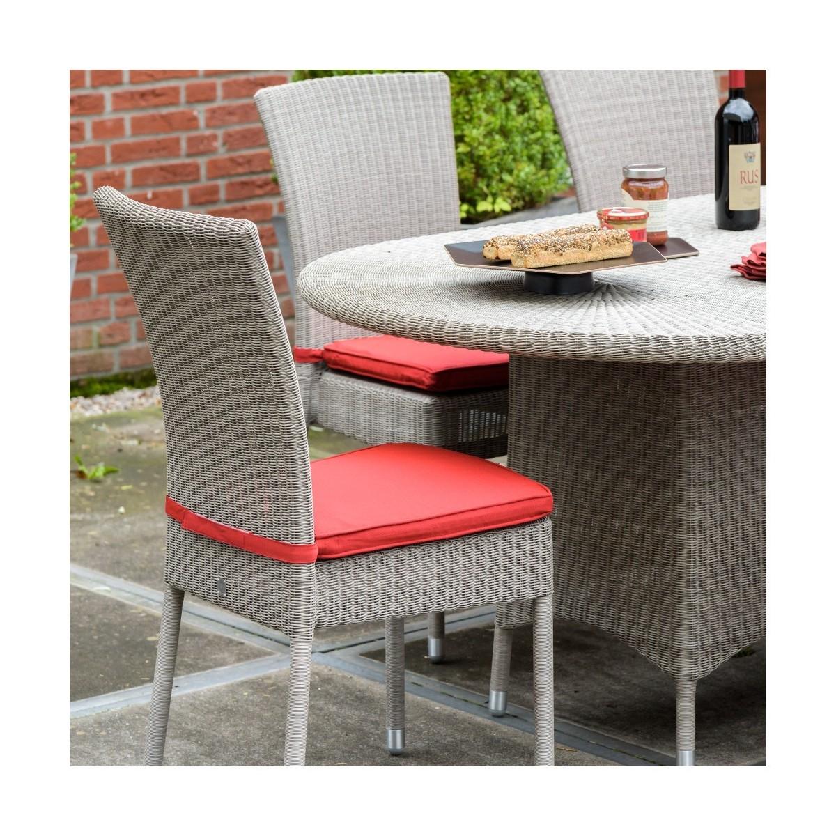 coussin de chaise isabelle en r sine coloris rouge. Black Bedroom Furniture Sets. Home Design Ideas