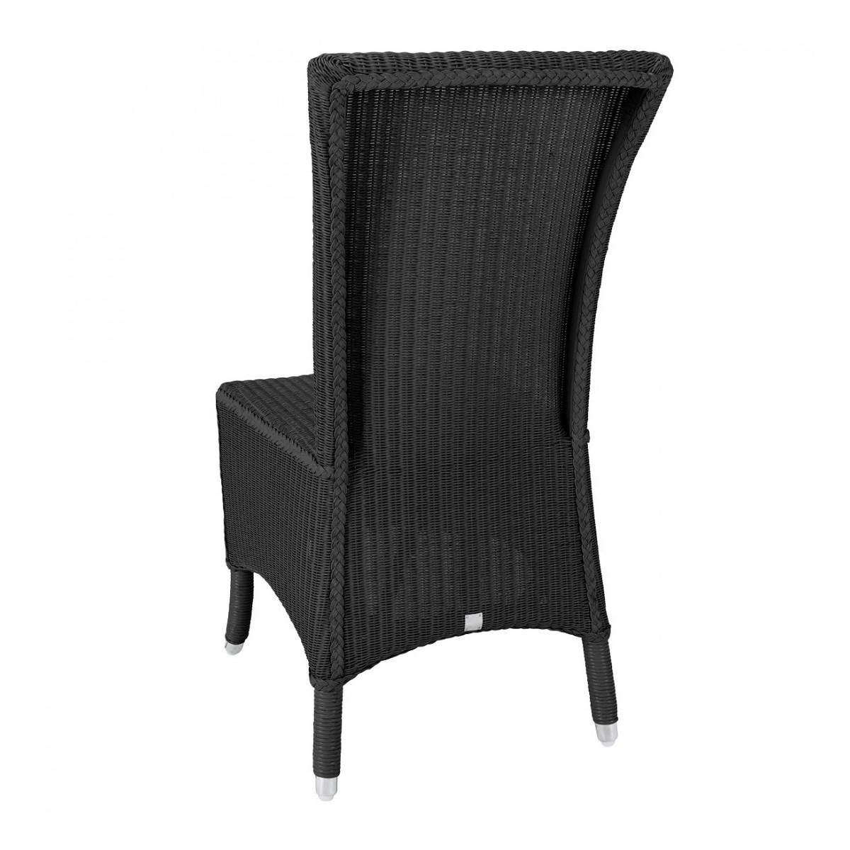 chaise mary en loom et rotin coloris noir. Black Bedroom Furniture Sets. Home Design Ideas