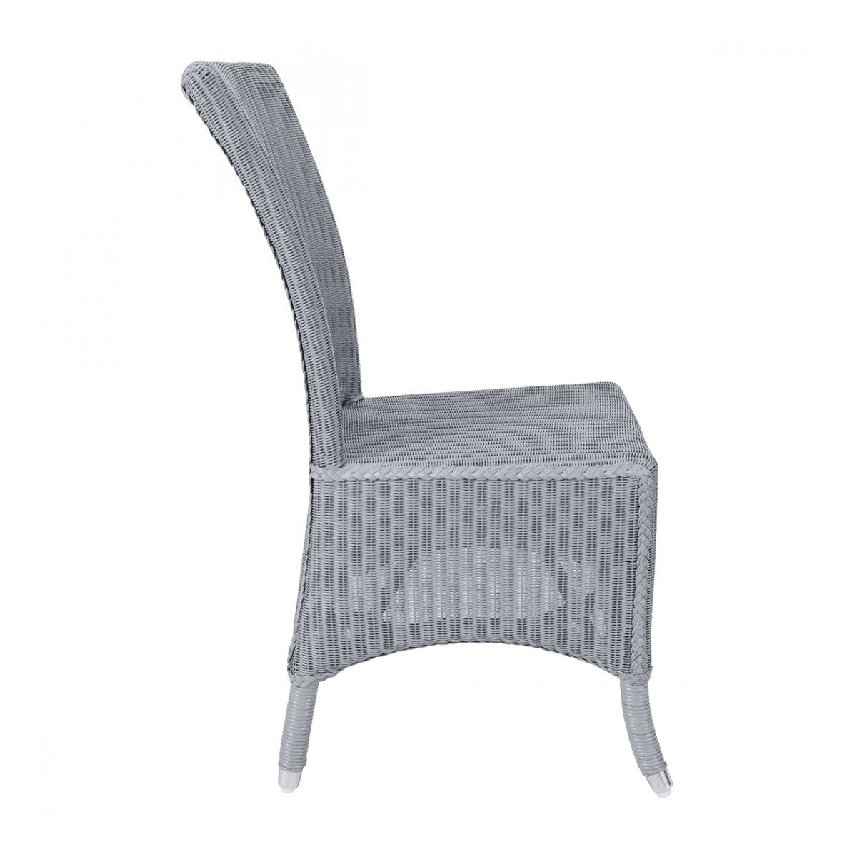 chaise mary en loom et rotin coloris gris bleu. Black Bedroom Furniture Sets. Home Design Ideas