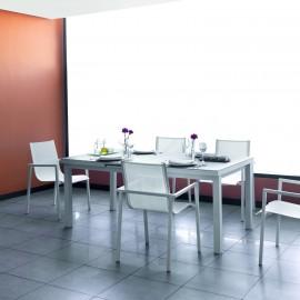 Table Aluminuim et Verre
