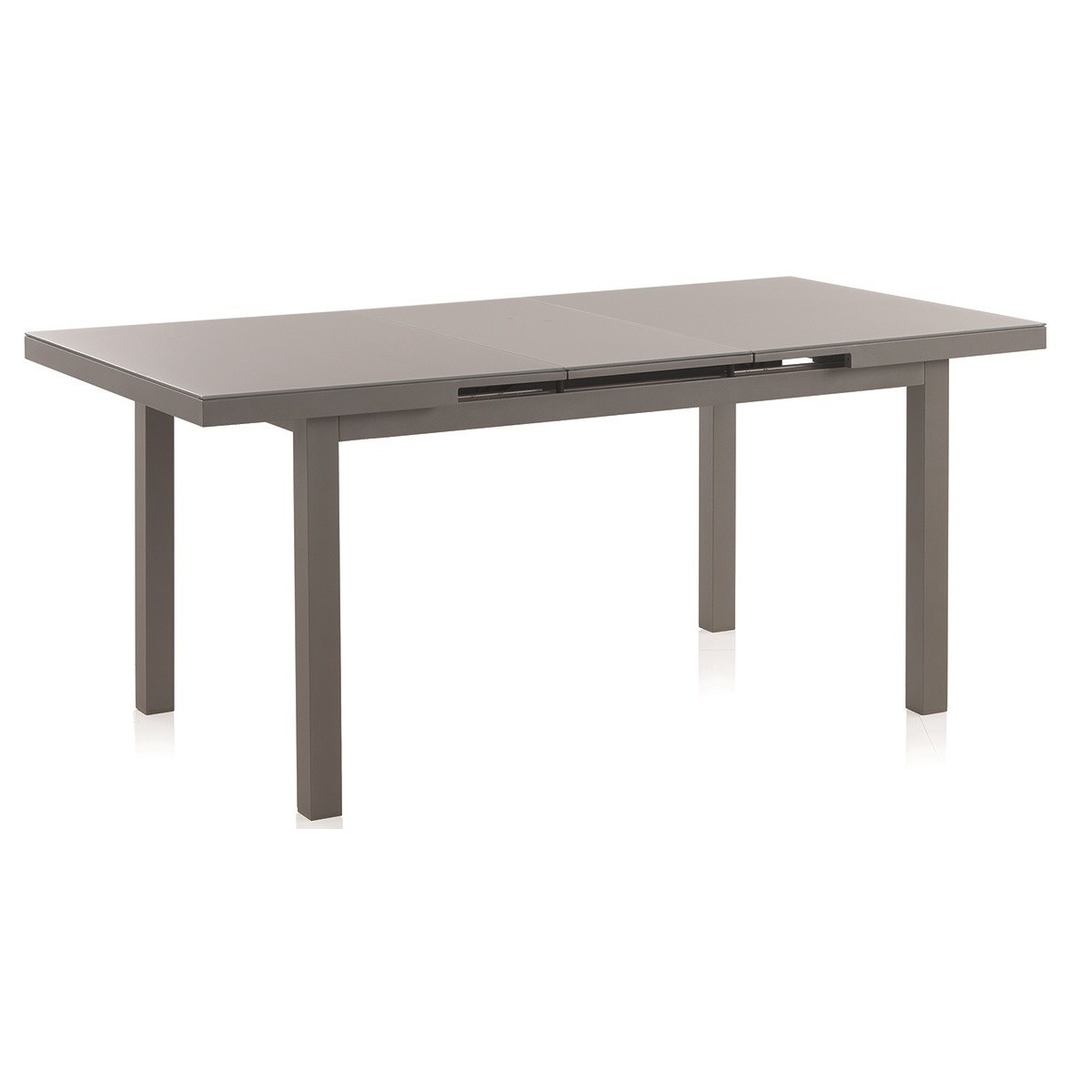 Table de repas en aluminium et verre sp cial ext rieur en for Table exterieur en aluminium