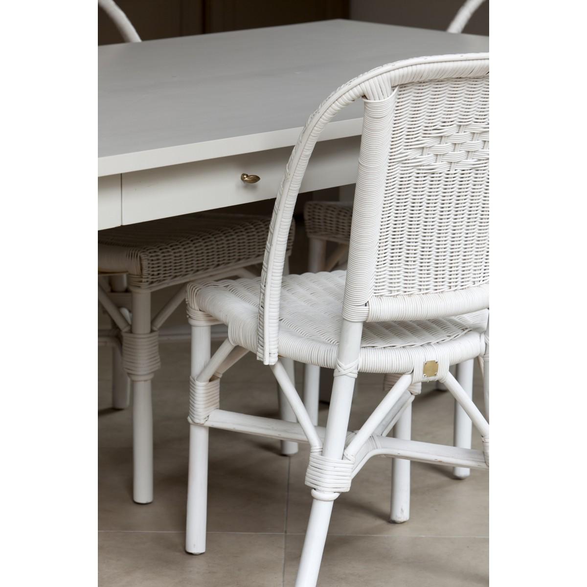 Chaise grand pere en moelle de rotin blanc for Miroir rotin blanc