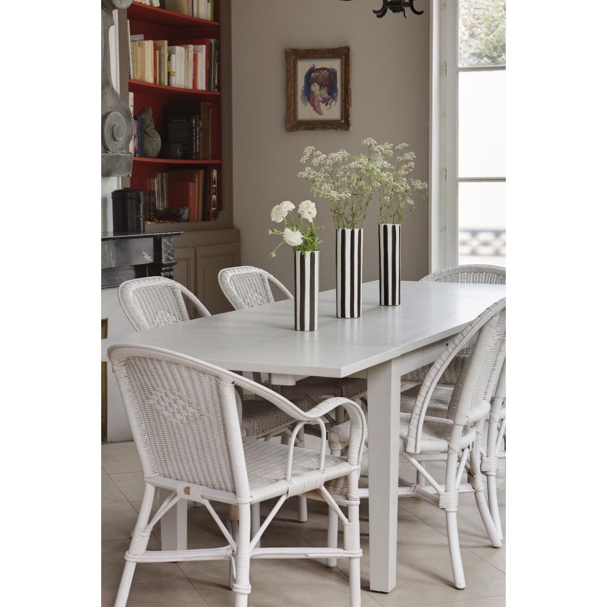 Chaise grand pere en moelle de rotin blanc - Meubles en rotin blanc ...