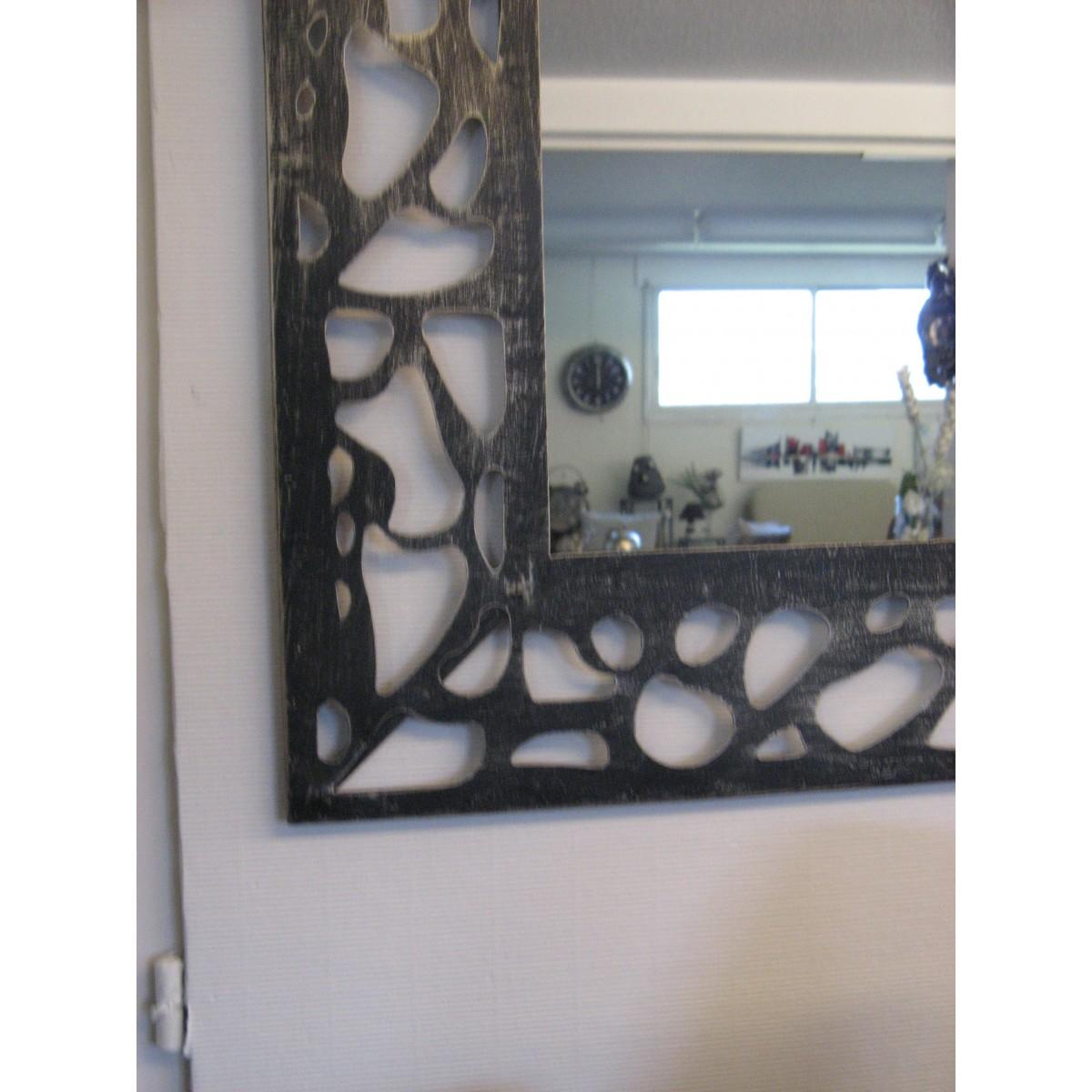 Miroir soleil en m tal ellis for Grand miroir metal