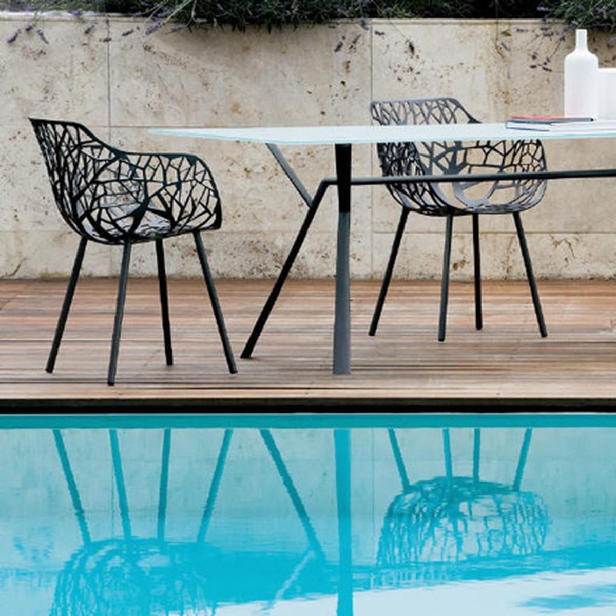 Chaise Aluminium Exterieur Fauteuil Jardin Toile Pliable