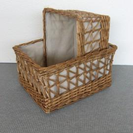 casier en rotin rangement en rotin ou kubu corbeille rectangulaire en rotin au vannier savoyard. Black Bedroom Furniture Sets. Home Design Ideas