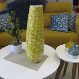 Vase Graphik Moutarde