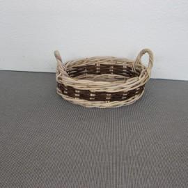 Corbeille Ovale Rotin Naturel 34x29