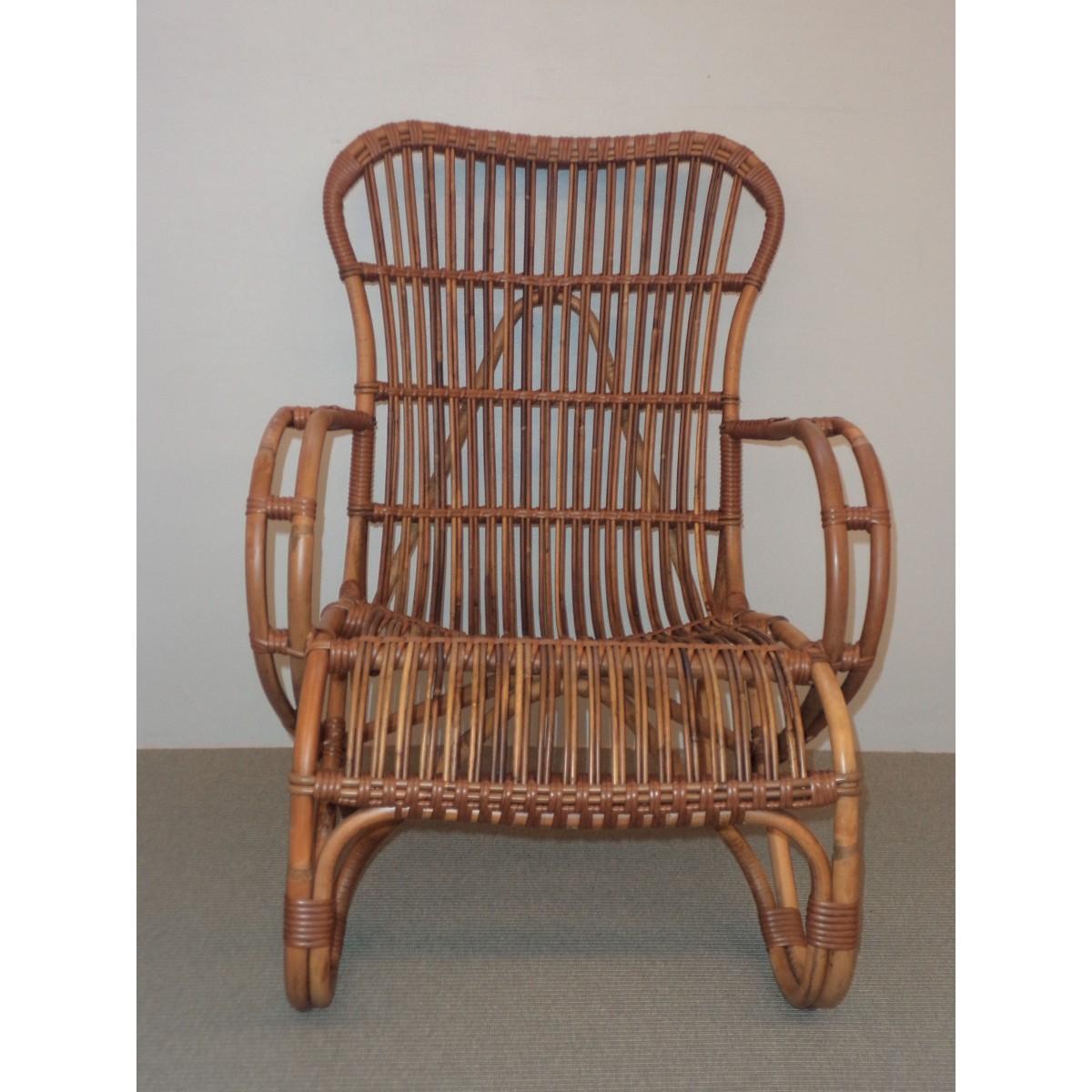 fauteuil en rotin vintage. Black Bedroom Furniture Sets. Home Design Ideas