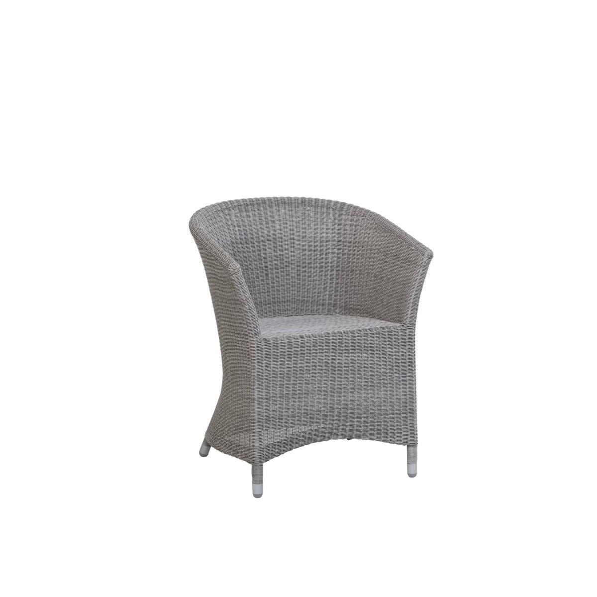 Fauteuil de table nemo en r sine et aluminium sp cial for Fauteuil exterieur gris