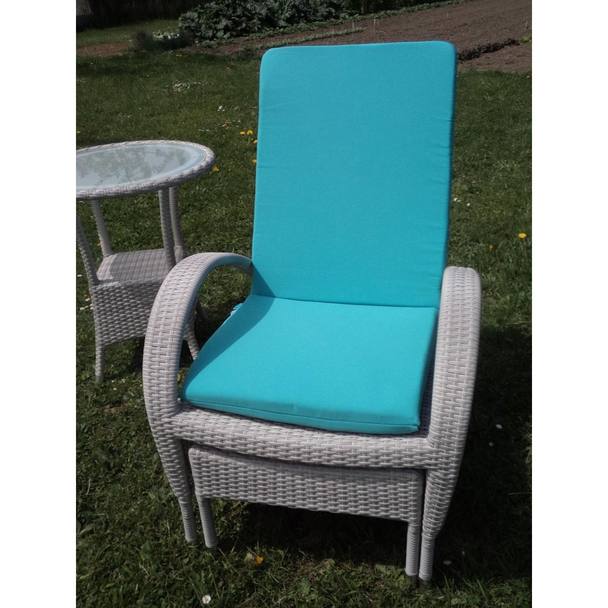 Chaise longue en aluminium et r sine grise sp cial ext rieur for Chaises longues en resine
