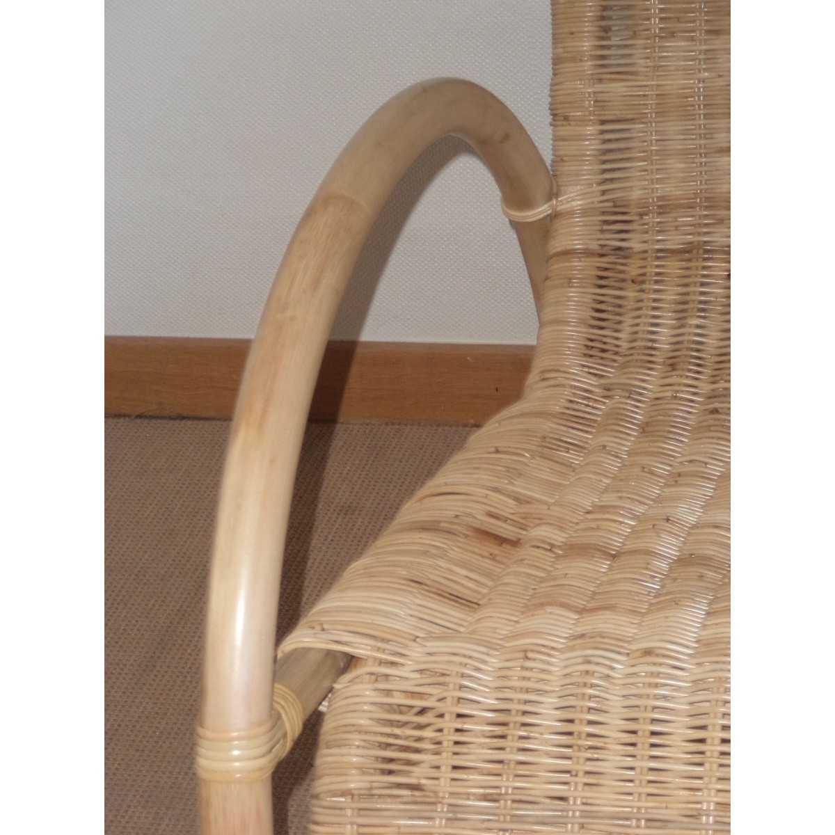 Rocking chair en rotin naturel special ext rieur for Rocking chair exterieur