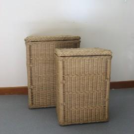 pani res linge en osier ou rotin rondes rectangulaires. Black Bedroom Furniture Sets. Home Design Ideas