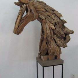 Tête de Cheval en Bois Flotté