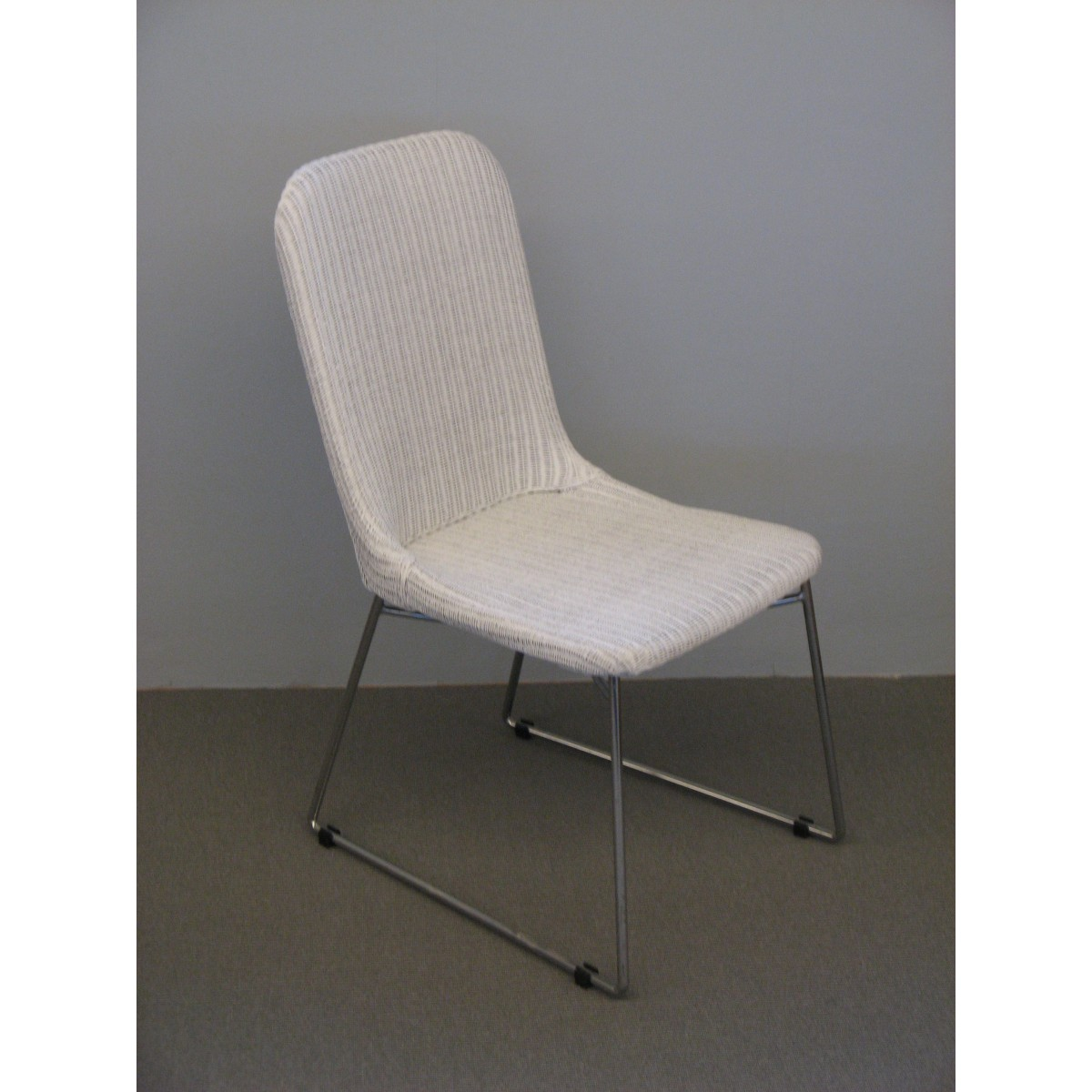 Chaise salsa en loom et rotin coloris blanc for Chaise blanche
