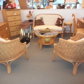 Salon Calcutta Canapé 2P + 2 fauteuils