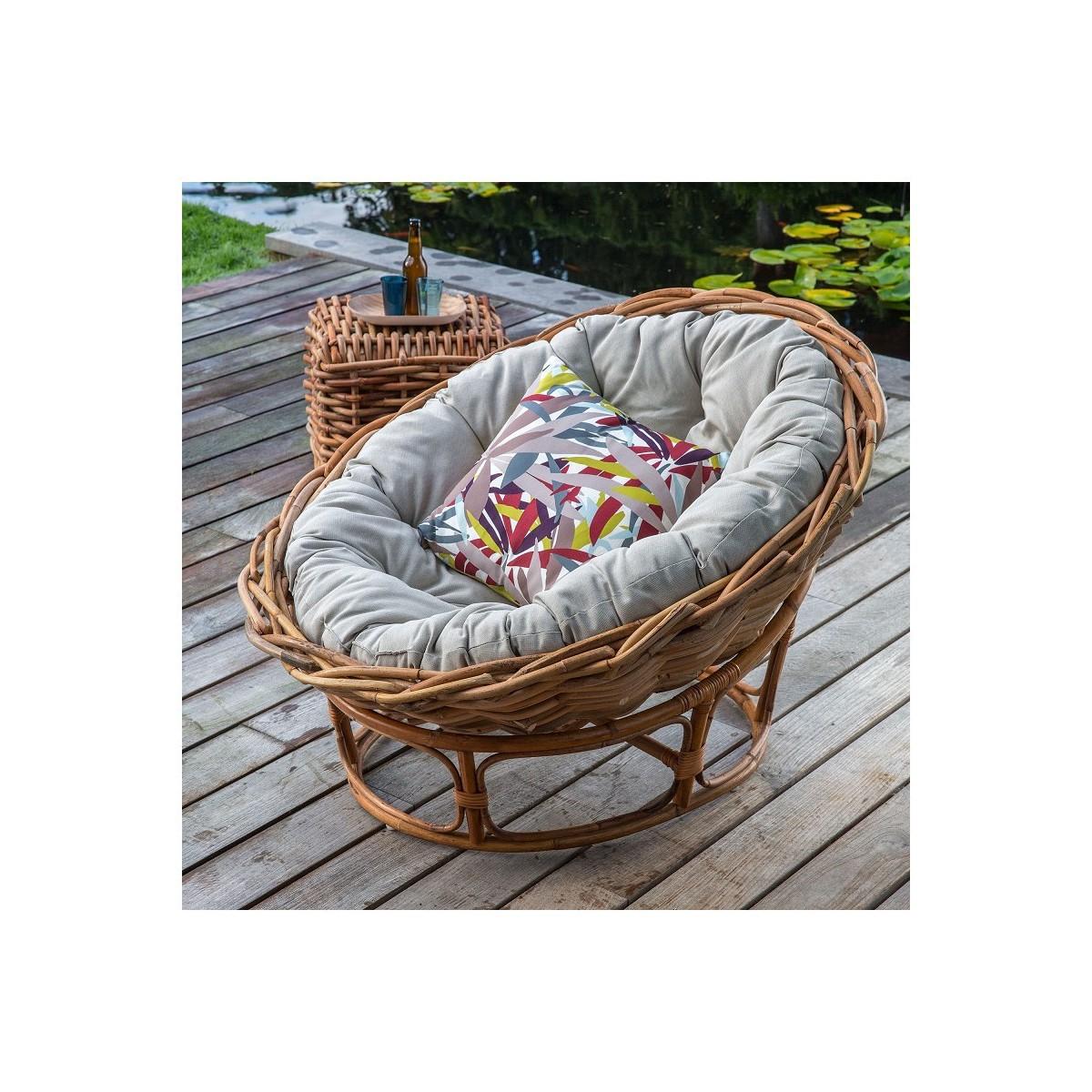 fauteuil loveuse en rotin naturel. Black Bedroom Furniture Sets. Home Design Ideas