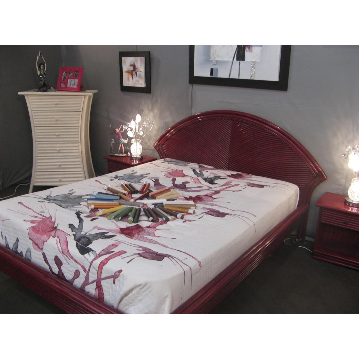 lit en rotin et filet de rotin hanoi. Black Bedroom Furniture Sets. Home Design Ideas