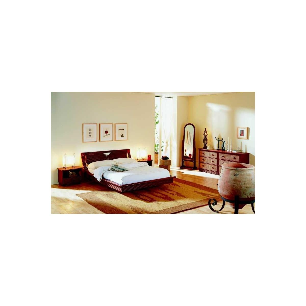 lit en rotin. Black Bedroom Furniture Sets. Home Design Ideas