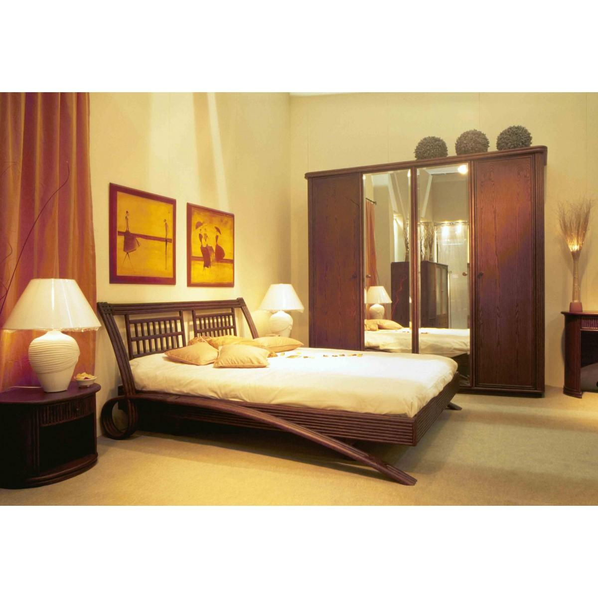 lit en rotin kota. Black Bedroom Furniture Sets. Home Design Ideas