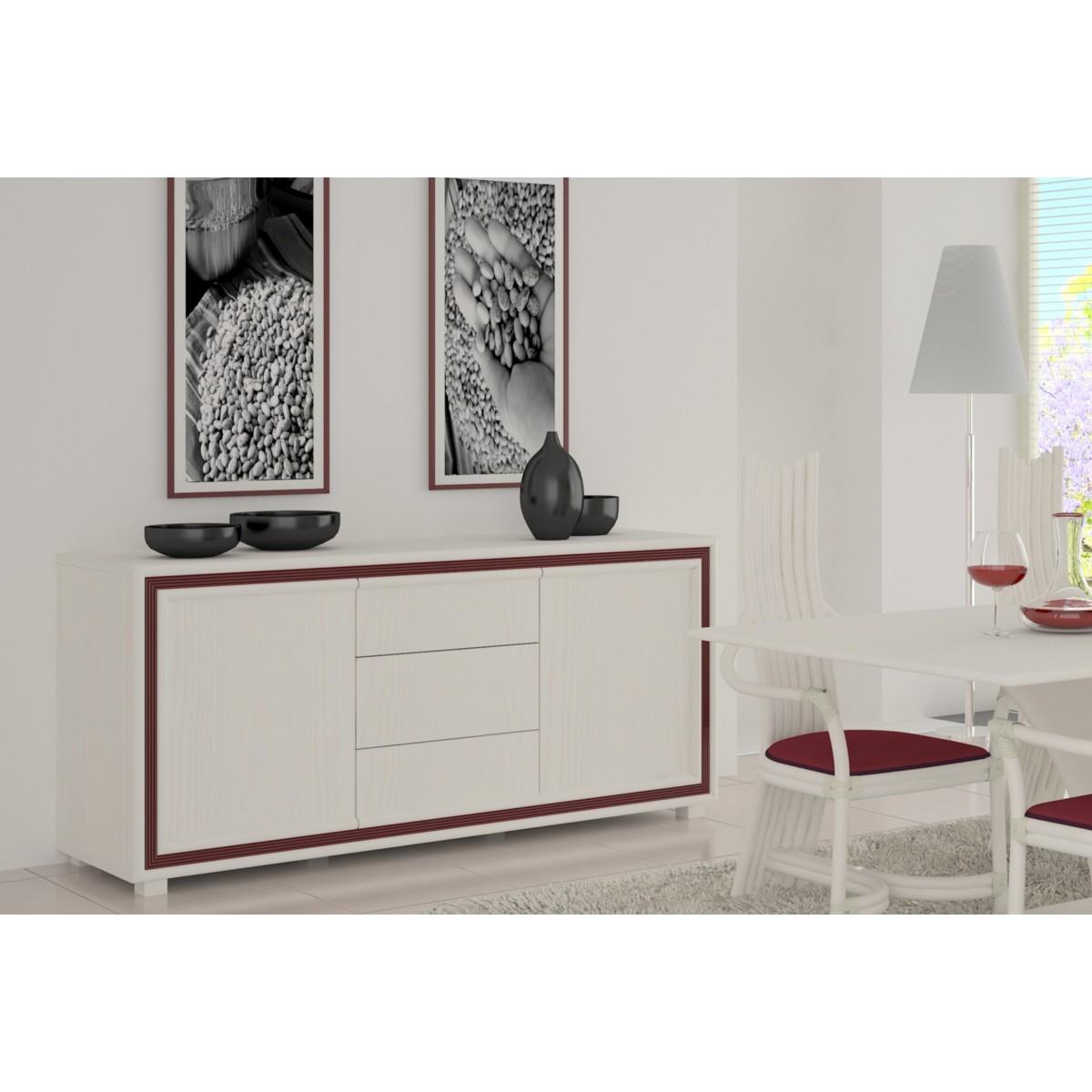 bahut sendai en rotin. Black Bedroom Furniture Sets. Home Design Ideas