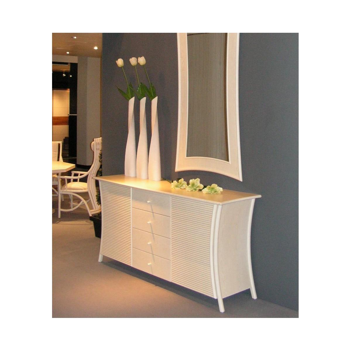 bahut en rotin. Black Bedroom Furniture Sets. Home Design Ideas