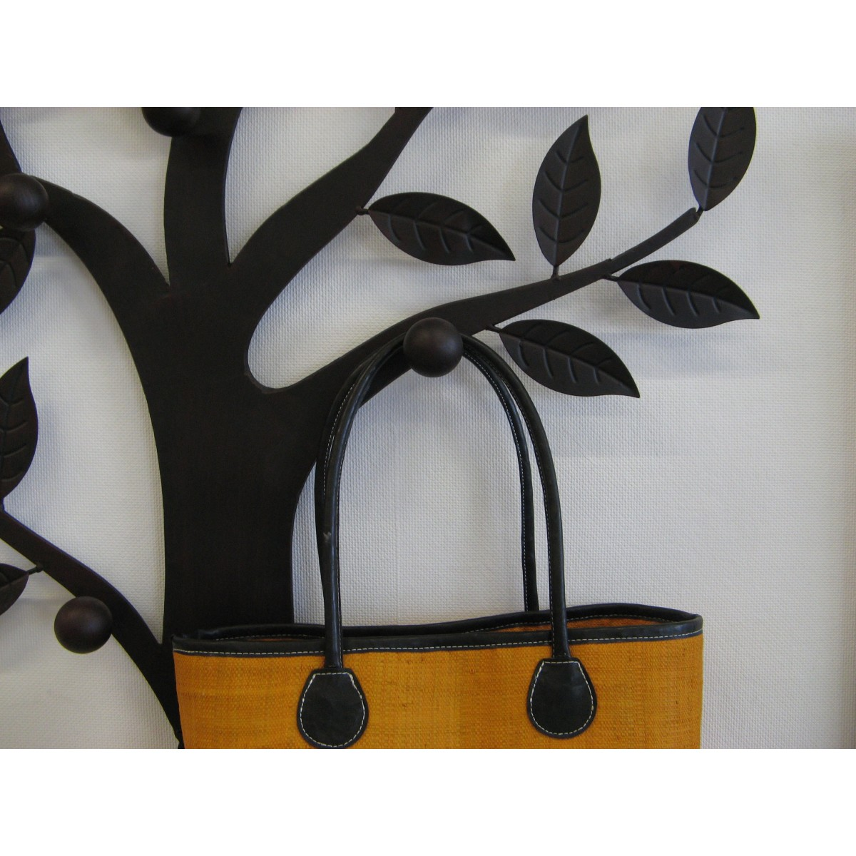 porte manteau arbre m tal murale d coratif 7 pat res marron. Black Bedroom Furniture Sets. Home Design Ideas