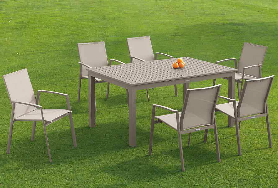 SOLDE Table Aluminium d\'extèrieur Faro