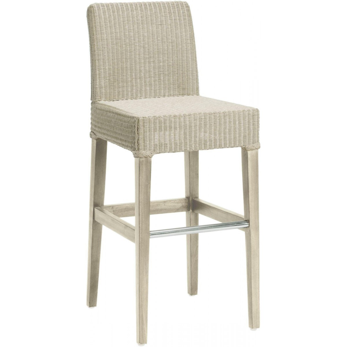 tabouret de bar en rotin loom cr me. Black Bedroom Furniture Sets. Home Design Ideas