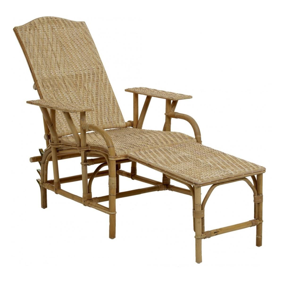 chaise longue en rotin naturel. Black Bedroom Furniture Sets. Home Design Ideas