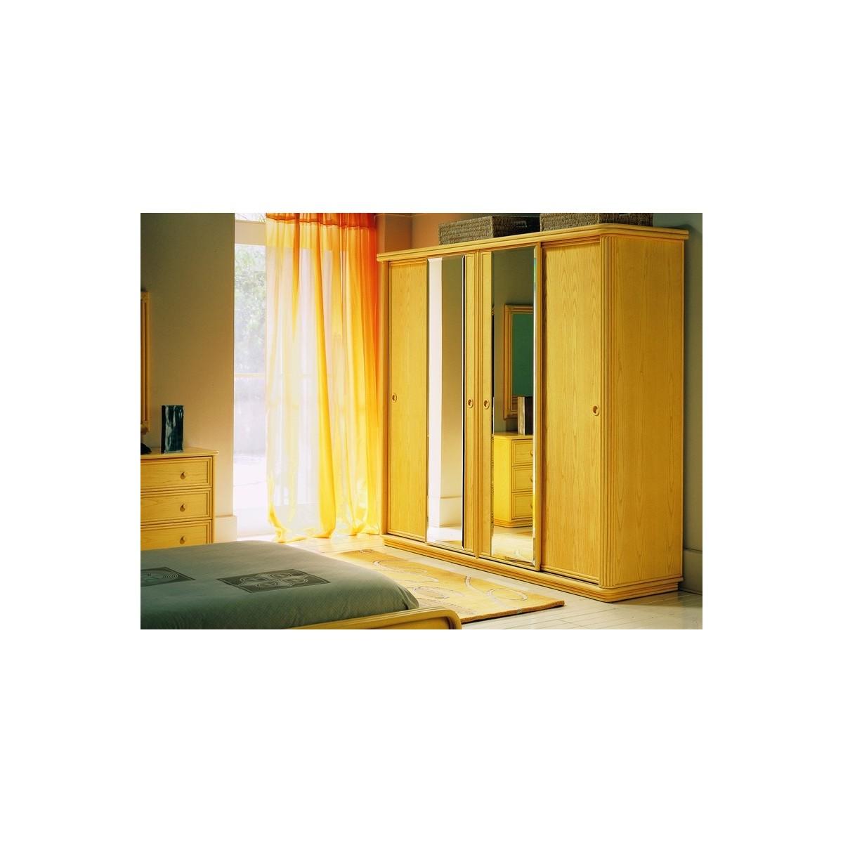 armoire en rotin 4 portes coulissantes