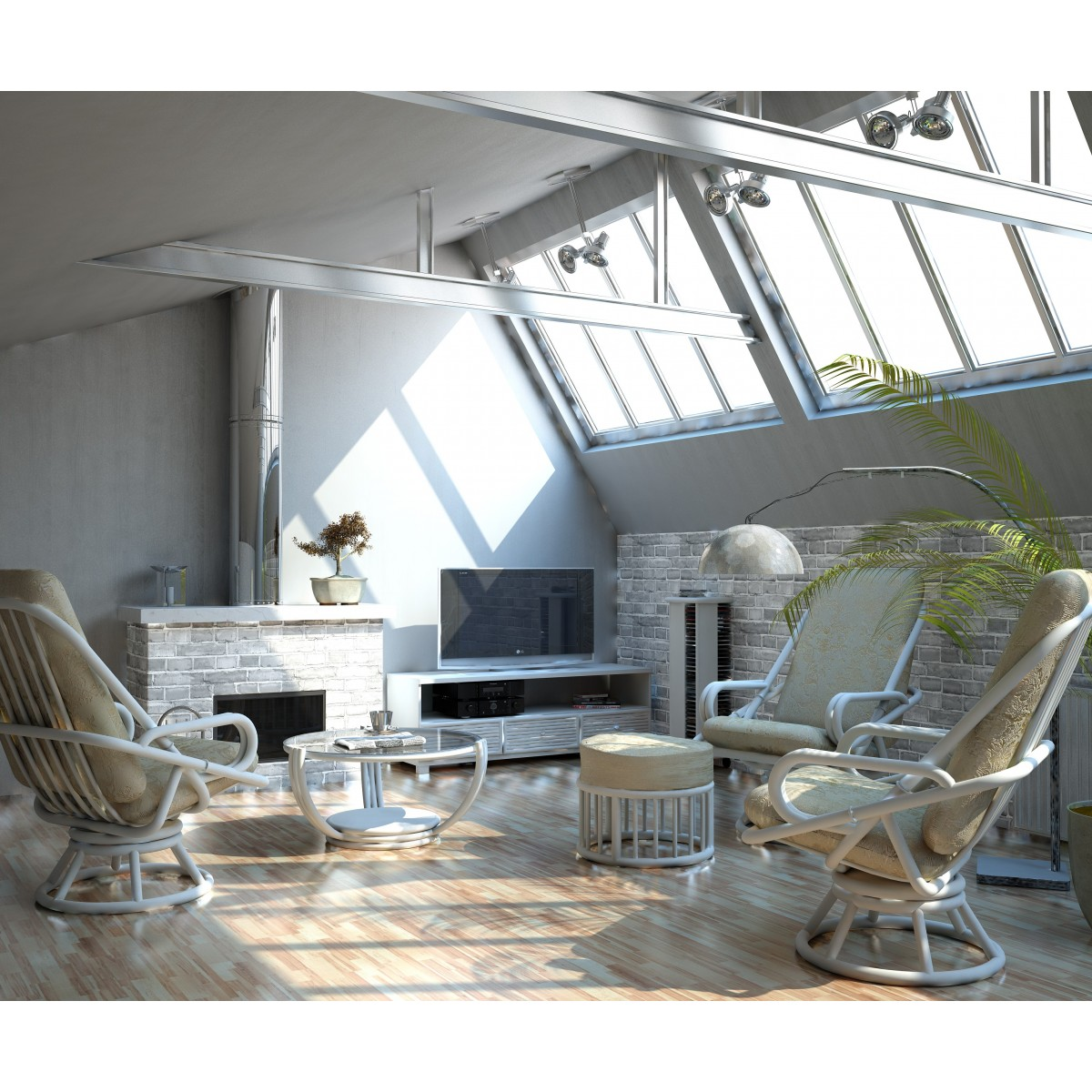 salon en rotin relax confortable. Black Bedroom Furniture Sets. Home Design Ideas