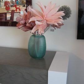 Vase Verre Ciselé Turquoise