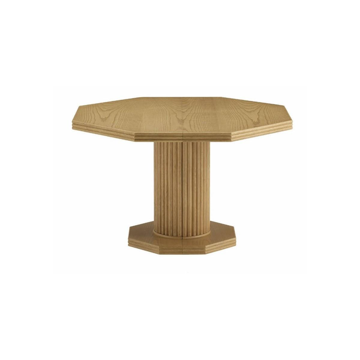 table de salon en rotin octogonale pied central. Black Bedroom Furniture Sets. Home Design Ideas