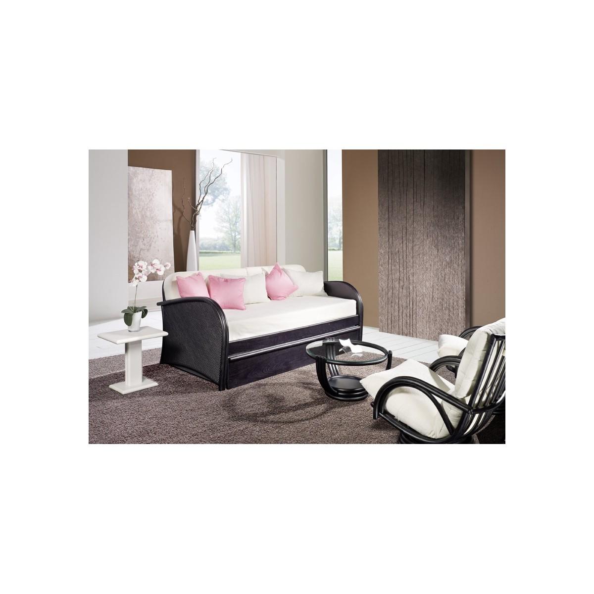 lit gigogne en rotin. Black Bedroom Furniture Sets. Home Design Ideas