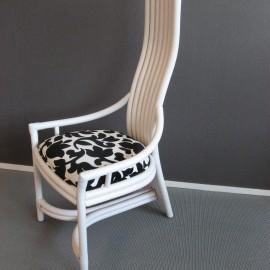 Chaise Design Rotin Blanc