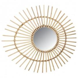 Miroir Oeuf Rotin