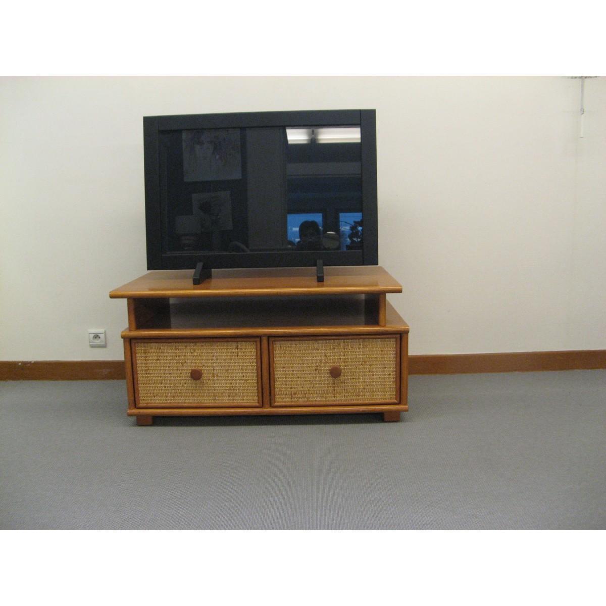 Meuble Tv Grande Taille meuble tv cannelle 100x61
