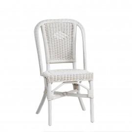 Chaise Grand Père Rotin Blanc