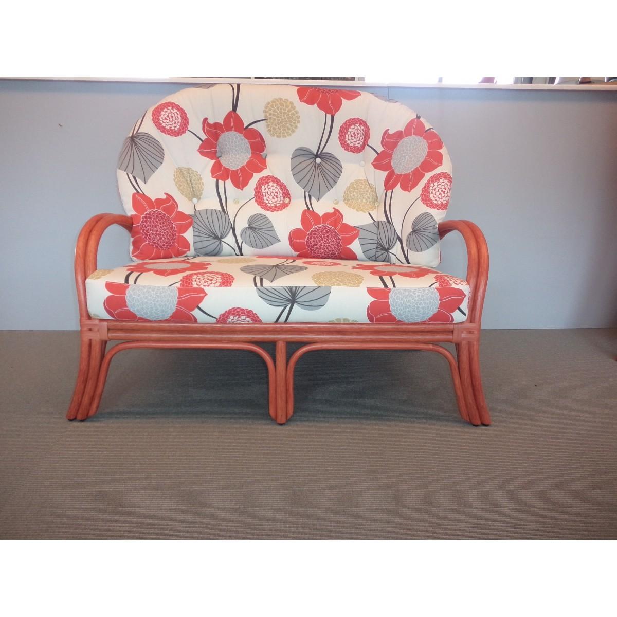 Canap 2 places en rotin sydney en coloris rouge - Canape 2 places rouge ...